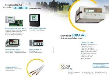 Produkt-Prospekt - Dolder Electronic AG