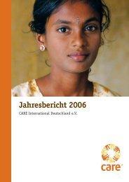 Jahresbericht 2006 - CARE Deutschland e.V.