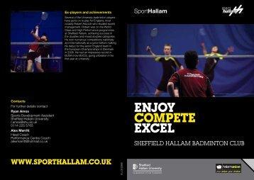 ENJoY compEtE EXcEl SportHallam - Sheffield Hallam University