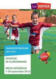 Jeugdsportbrochure 2012-2013 - Stad Kortrijk