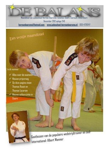 december - Judoschool Herman Boersma
