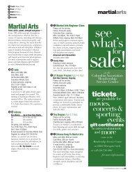 Martial Arts - Columbia Association
