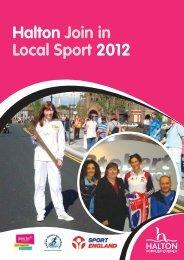 Halton Join in Local Sport 2012 Booklet - Halton Borough Council