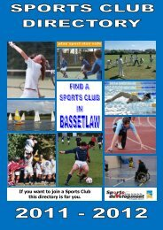 Bassetlaw Sports Club Directory 2011 - Bassetlaw District Council