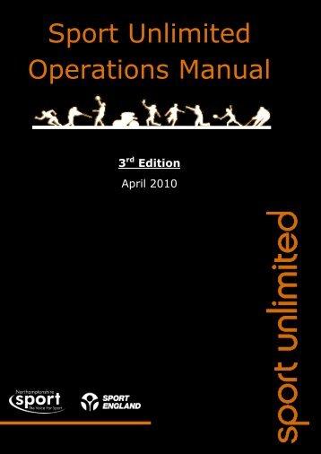 Sport Unlimited Operations Manual - Northamptonshire Sport