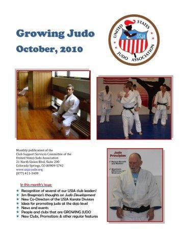 Growing Judo - October 2010 - Judo Information Site