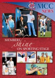 MEMBERS ON SPORTING STAGE - Melbourne Cricket Club