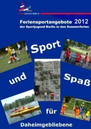 Flyer Feriensportangebote Sommer 2012