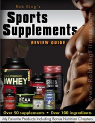 Rob King's Sports Supplement Guide - Rob King Fitness