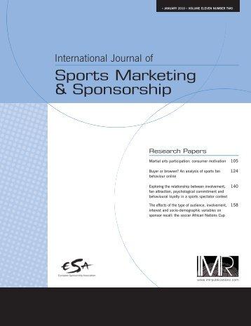 Sports Marketing & Sponsorship - FIFA/CIES International University ...