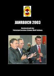 JAHRBUCH 2003 - Polizeisportverein Salzburg