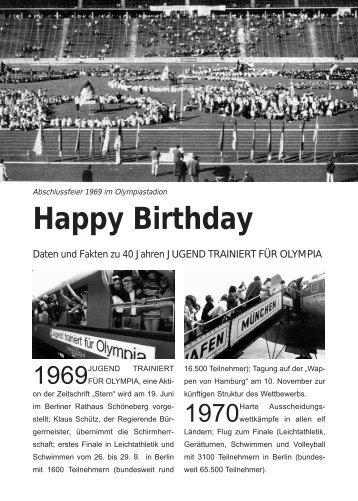 Happy Birthday - Jugend Trainiert für Olympia