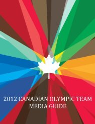 2012 CANADIAN OLYMPIC TEAM MEDIA GUIDE