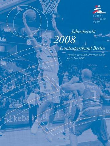 LSB-Jahresbericht 2008 - Landessportbund Berlin