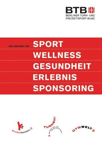 sport wellness gesundheit erlebnis sponsoring - Berliner Turn- und ...