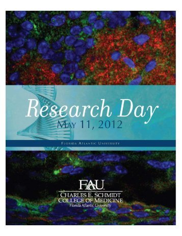 Research Day Book 2012 - FAU - The Charles E. Schmidt College of ...