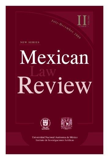 Pdf - Mexican Law Review. Nueva Serie - UNAM