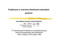 Fieldbuses in real-time distributed embedded systems