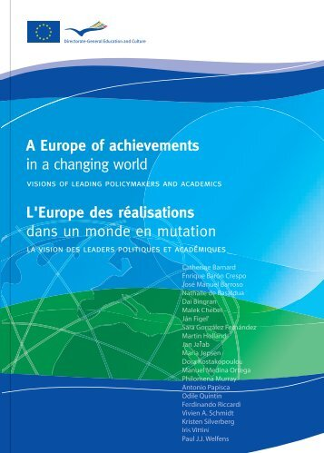 A Europe of achievements in a changing world L'Europe des ...
