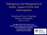 Optimizing the Stroke Care Continuum José Biller, MD ... - IUA 2012