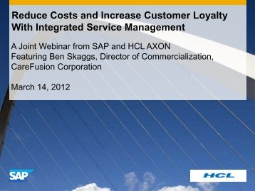 Reduce Costs And Increase Customer Loyalty With Integrated