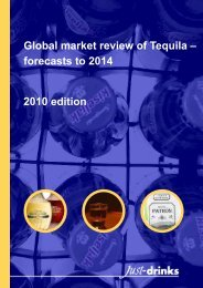 Global market review of Tequila – forecasts to 2014 - Just-Drinks