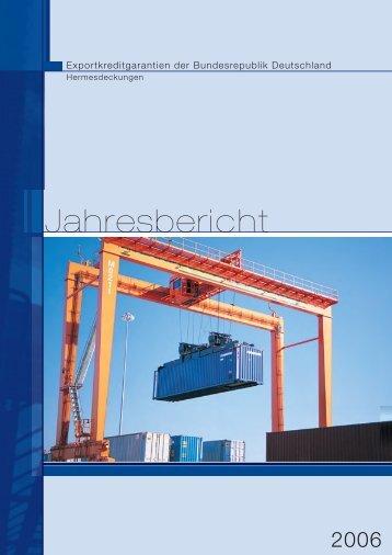 Jahresbericht - AuslandsGeschäftsAbsicherung der Bundesrepublik ...