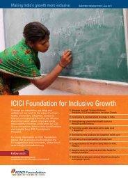 read more - ICICI Foundation