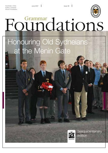 Honouring Old Sydneians at the Menin Gate - Sydney Grammar ...