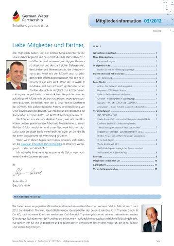Mitgliederinformation 03/2012