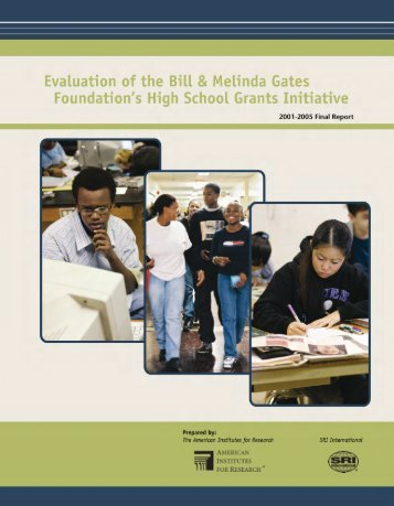 Evaluation of the Foundation's High School Grants Initiative