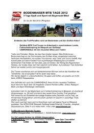 BODENMAISER MTB TAGE 2012 - Bayerischer-Wald
