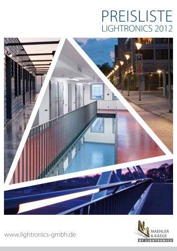Preisliste 2012 - Lightronics GMBH