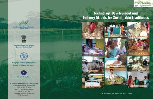 Technology Delivery - M  S  Swaminathan Research Foundation