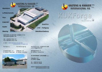 KuKforge - Kastens & Knauer GmbH & Co. International KG