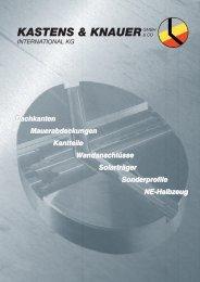Katalog Dach & Wand - Kastens & Knauer GmbH & Co. International ...