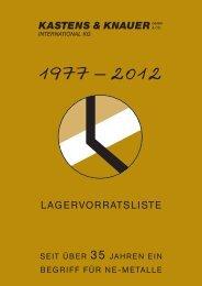 Lagervorratsliste 2012 (6 MB) - Kastens & Knauer GmbH & Co ...