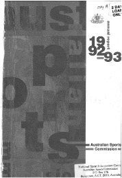 Australian Sports Commission Annual Report 1992-1993 Pt