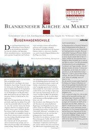 Der Gemeindebrief für Februar/März 2013 - in Blankenese