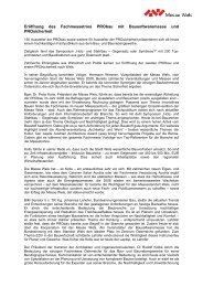 Eröffnung des Fachmessetrios PRObau mit ... - Messe Wels