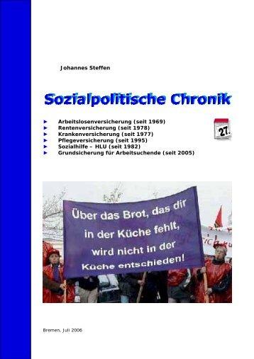 Johannes Steffen Arbeitslosenversicherung (seit ... - NachDenkSeiten