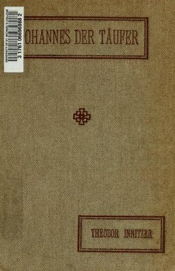 Johannes der Taufer : Nach der Heiligen Schrift und der Tradition
