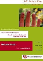 Mündlichkeit - elementargermanistik.uni-bremen.de - Universität ...