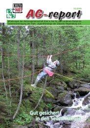Gut gesichert in den Seilen hängen - Aktionsgemeinschaft Kind in Not