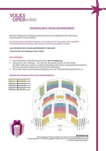 Infoblatt Weihnachtswahlabo als PDF downloaden - Volksoper Wien