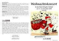 Weihnachtskonzert - Karl-Ziegler-Schule