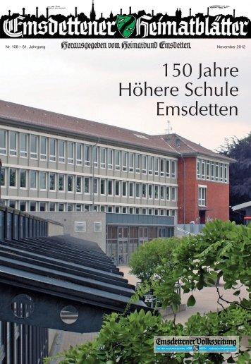 150 Jahre Höhere Schule Emsdetten - Heimatbund Emsdetten