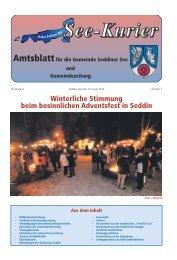 Winterliche Stimmung beim besinnlichen Adventsfest in Seddin
