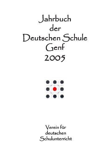 Jahrbuch 2005 - Deutsche Schule Genf