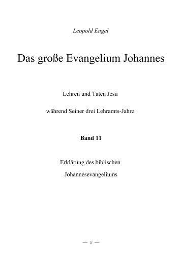 Das große Evangelium Johannes 11 - Offenbarung